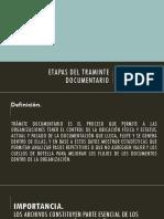 ETAPAS TRAMINTE DOCUMENTARIO