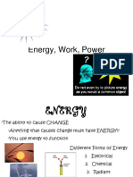 Energy Work and Power