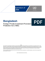 Bangladesh - Foreign Investment Law (English) (1)