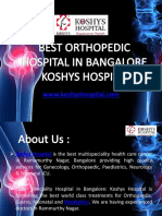 Best Orthopedic Hospital in Bangalore - Koshys Hospital