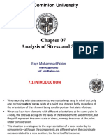 Chap 07- Analysis of Stress and Strain
