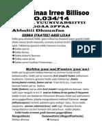 Jechoota Eebba Arsii Oromoo 1