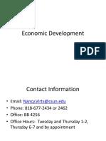 Economic Development Lecture 1