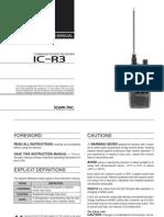 Icom IC-R3 Instruction Manual