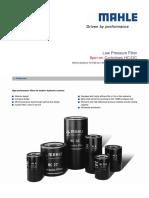 Spin on Cartridges Hc Oc Nominal Pressure 10-16-25 Bar Nominal Size 25 160
