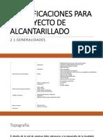 2.1.- Generalidades (Alcantarillado)