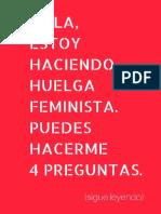 Libro-juego de La Huelga Feminista