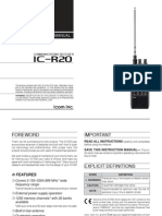 Icom IC-R20 Instruction Manual