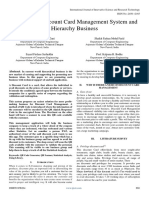 Analysis of Discount Card Management System and Hierarchy Business
