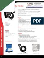 SBS-H2 Hydrogen Gas Detector User Guide