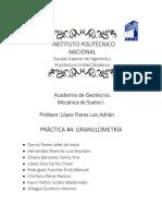 Practica de Granulometria ESIA Zacatenco