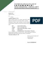 Surat Pemberitahuan Musyawarah Darurrohman