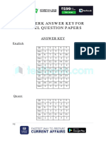 Answer Key for SBI Clerk Model Question Paper