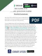 SBI Clerk Model Question Paper 2018