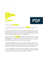 Letter - Poor Maintenance