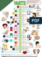 Body Parts Crossword Games 12656