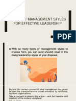 6 Type of Management Styles for Effective Leadership