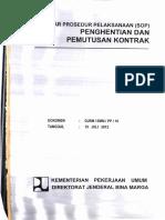 SOP Penghentian Dan Pemutusan Kontrak
