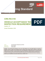Crn Rs 010 v20 Vehicle Acceptance Test and Inspection Requirements