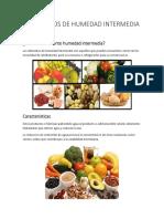 Alimentos de Humedad Intermedia