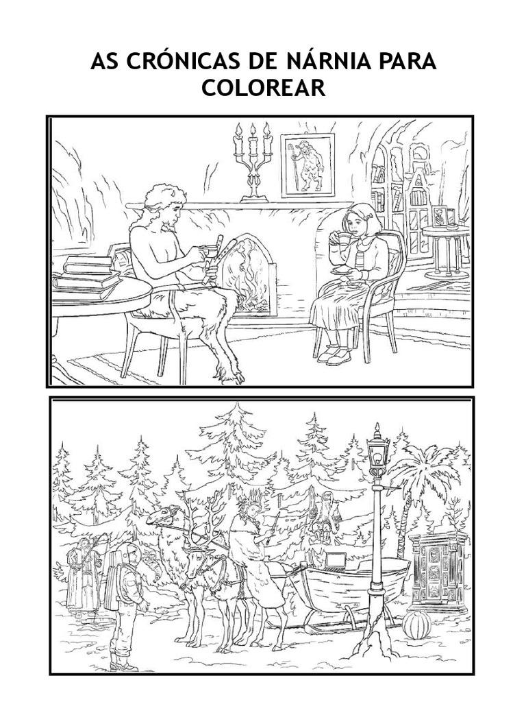 Atractivo Crónicas De Narnia Para Colorear Modelo - Dibujos Para ...