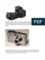A Digital Still Image Camera That Uses a Single Lens Reflex and Health Problems