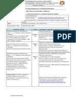 Programación Módulo Evaluación Institucional