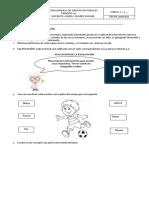 Evaluación General de Ciencias Naturales Grado 1 p2