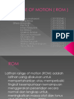 Ppt Range of Motion ( Rom )