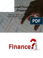 Nature and Necessity of Finance