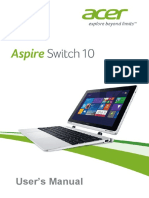 Acer Switch 10 User Manual SW5-012P
