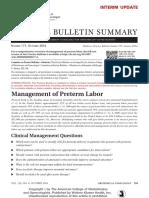 Practice Bulletin No 171 Summary Management of.52 (ACOG