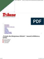 """""""Troiţele Din Mărginimea Sibiului"""" - Lansată La Biblioteca ASTRA _ Eveniment _ Tribuna"""