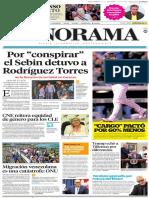 Primera página diario Panorama