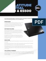 Dell Latitude E5400 and E5500 Spec Sheet