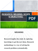 Research- Meaning, Scope & Objectives(1)