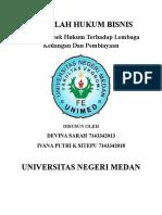 Hukum Bisnis Kel 6 (Aspek Hukum Terhadap Lembaga Keuangan Dan Pembiayaan)