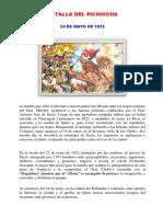 Resumen Batalla de Pichincha 24 Mayo 1822