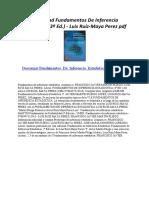 Fundamentos de Inferencia Estadistica (3ª Ed