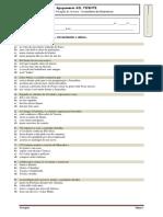 Ficha de Verificação de Leitura - O Cavaleiro Da Dinamarca