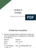 Unidad 2 Problemas Energía