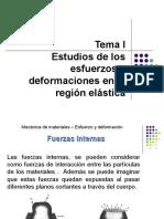 Estudios de Los Esfuerzos y Deformaciones en La Región Elástica