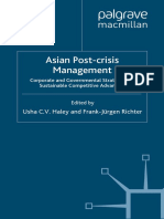 Asian Post Crisis Management Corporate and Governmental Strategies for Sustainable Competitive Advantage