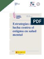Estrategia Lucha Estigma Salud Mental