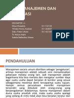 Aspek Manajemen Dan Organisasi