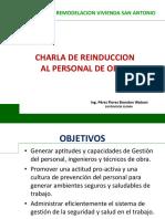 Charla de Reinduccion - Obra