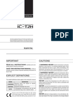 Icom IC-T2H Instruction Manual