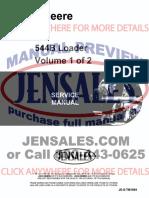 John Deere 544b Wheel Loader Service Manual