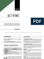 Icom IC-T7H Instruction Manual