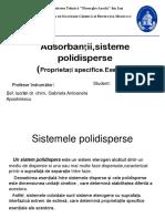 Adsorbanții,Sisteme Polidisperse- Proiect CF3.